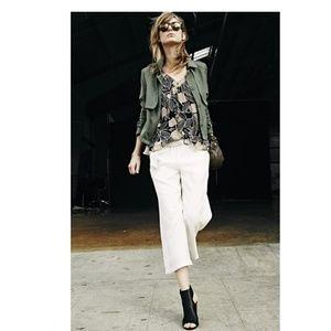 "ELLA MOSS ""Candice"" Woven Military Jacket"